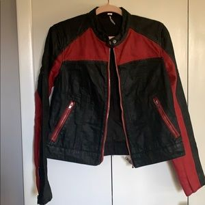 Black and Red Jean Jacket